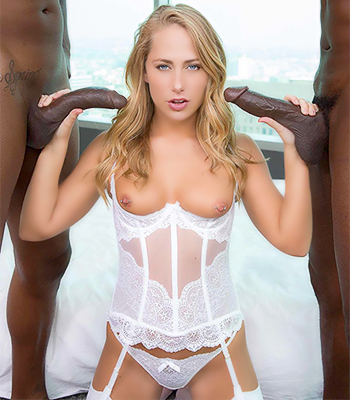 Carter Cruise Fucks Two Black Guys On Blacked