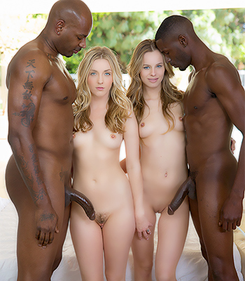 Blacked Foursome With Jillian Janson And Karla Kush