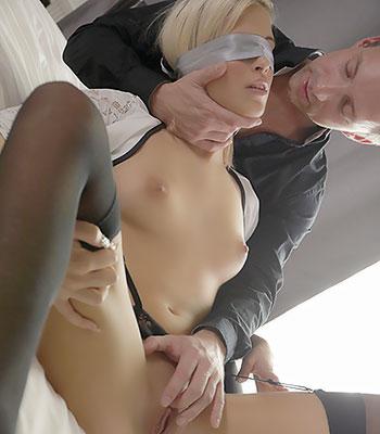Husband Wife Cum Kiss