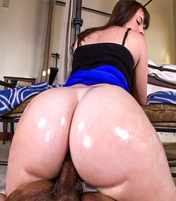 Asses white massive wet