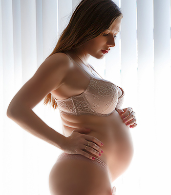 Pregnant woman busty