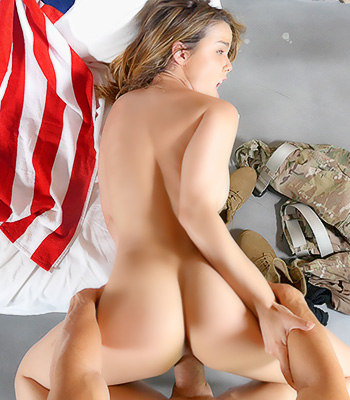 Dillion Harper Red White and Brunette