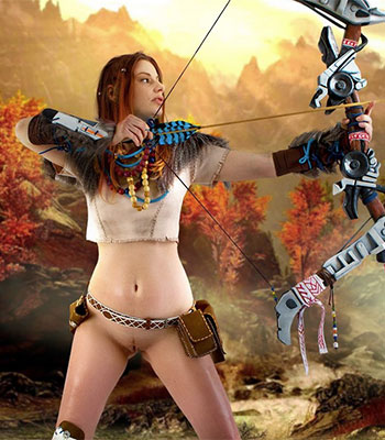 Marylin Horizon Zero Cosplay