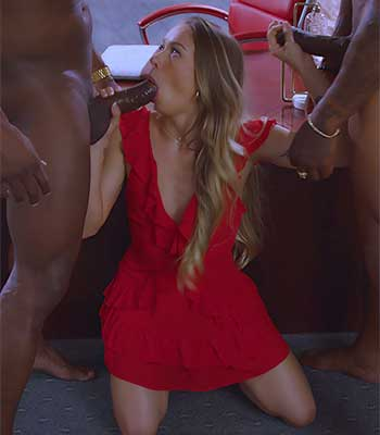 something is. blonde double penetrated by 2 black cocks for that